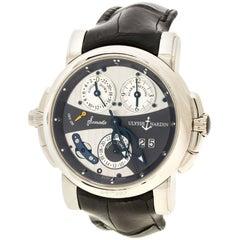 Ulysse Nardin  18K White Gold Sonata Cathedral GMT UN067 Men's Wristwatch 42mm