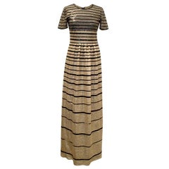 Alice by Temperley Gold And Black Sequinned Dress US 4