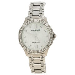 Concord Mother of Pearl Diamond Stainless Steel Saratoga Women's Wristwatch 31mm
