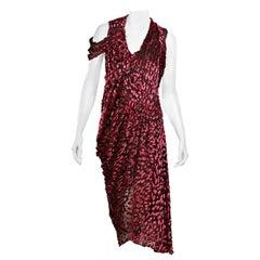 Red & Back Jason Wu FW 17 Draped Dress