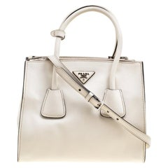 70e42f4bc89392 Prada Off White Leather Double Zip Tote. HomeFashionHandbags and PursesShoulder  Bags