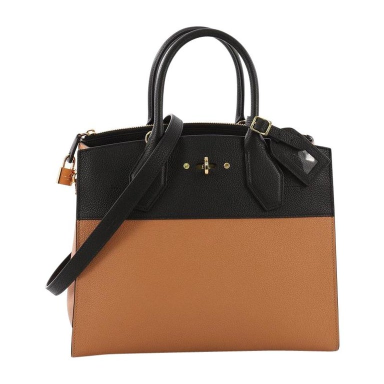 380a566616a3 Louis Vuitton City Steamer Handbag Leather MM For Sale at 1stdibs