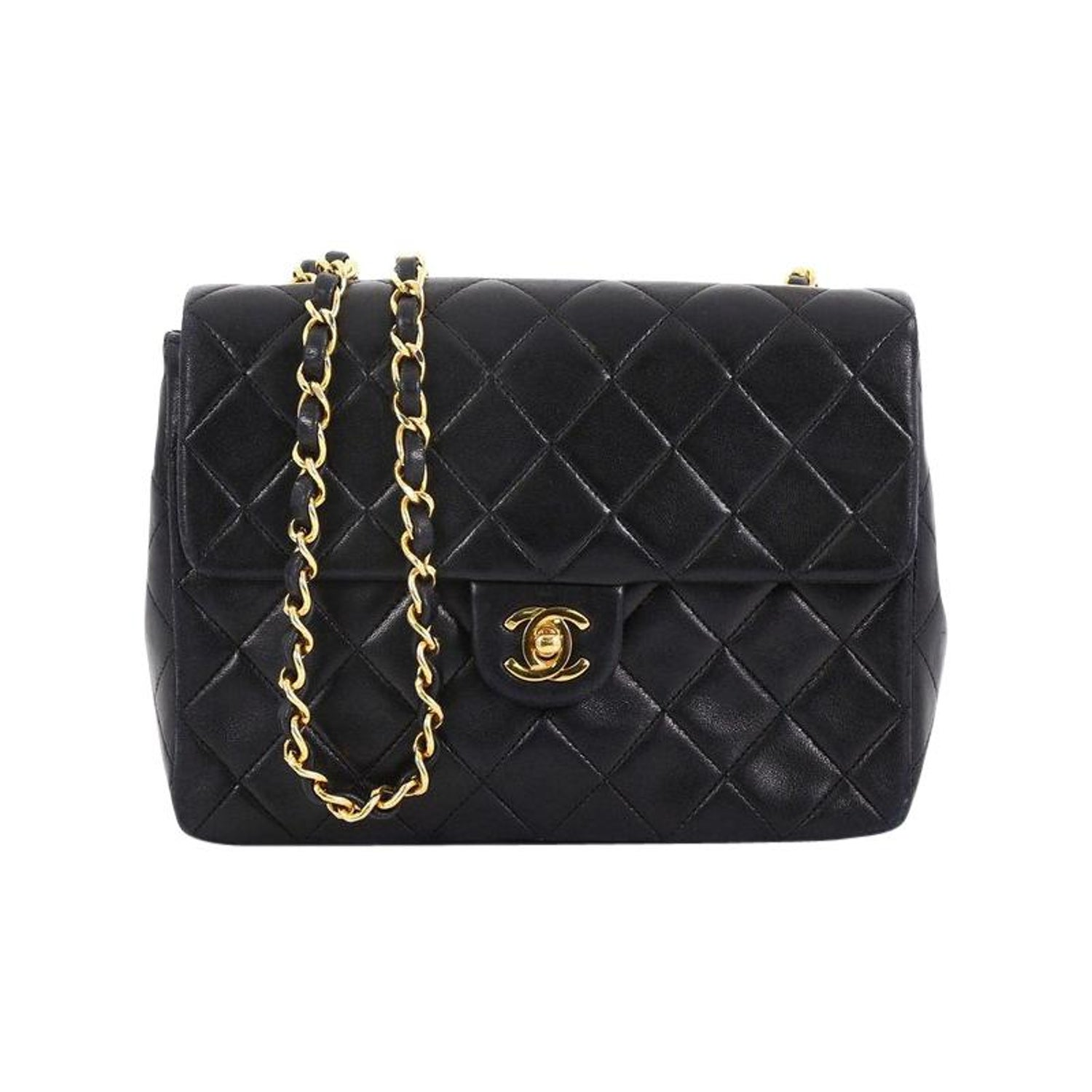 d9f3319fbf8b Chanel Vintage Square Classic Flap Bag Quilted Lambskin Small For Sale at  1stdibs