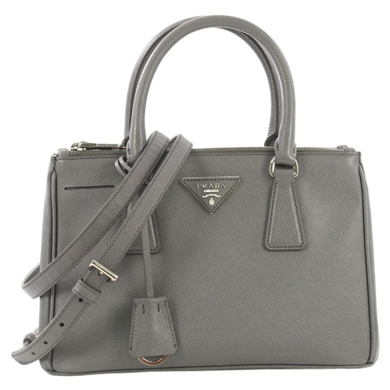3f4ba8475f27 Prada Galleria Double Zip Lux Tote Saffiano Leather Small For Sale at  1stdibs