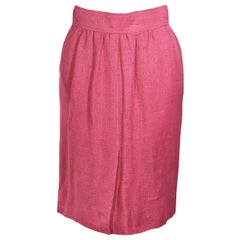 Pink Vintage Chanel Tweed Pencil Skirt