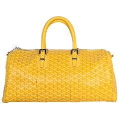 Goyard Yellow Goyardine Canvas/Leather Croisiere 50 Duffle/Travel Bag