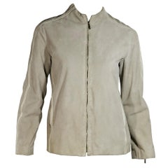 Taupe Louis Vuitton Suede Jacket
