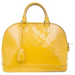 Louis Vuitton Yellow Vernis Monogram Alma PM