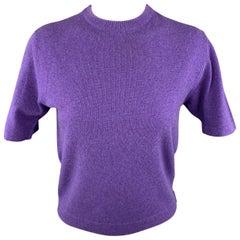 HERMES Size M Purple Cashmere / Viscose Pullover Sweater