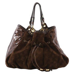 Louis Vuitton Irene Handbag Monogram Embossed Suede and Patent