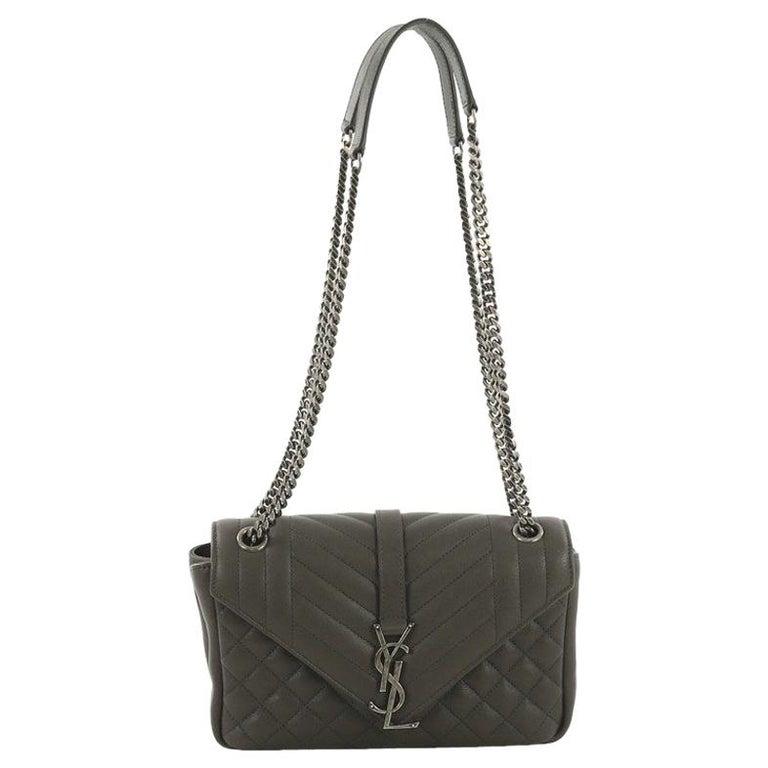 672e830cc152 Saint Laurent Classic Monogram Slouchy Flap Bag Quilted Leather Medium For  Sale