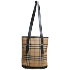 Burberry Nova Check Bucket Bag