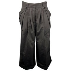 LOUIS VUITTON Size 6 Black Cotton Casual Pants