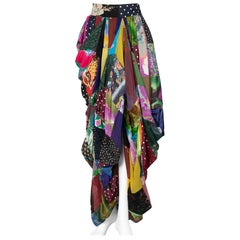 Dolce & Gabbana Multicolored Silk Patchwork Maxi Skirt, 1990s.