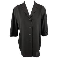JIL SANDER Size 8 Black Wool Jacket / Blazer