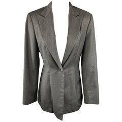 RICHARD TYLER Size 8 Grey Jacket / Blazer