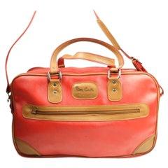 Otlm5 Red Canvas Weekend/Travel Bag