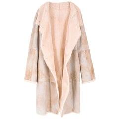 Joseph Cream Rabbit Fur Coat US 4