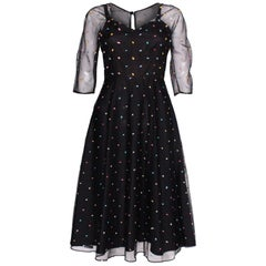 a vintage 1970s polka dot Party Dress by Radley
