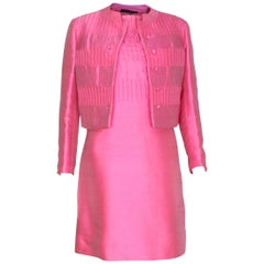 A vintage 1960s Pink Dress and Jacket  by Louis Feraud for Rembrant
