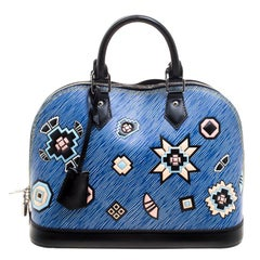 Louis Vuitton Blue Epi Leather Azteque Alma PM Bag