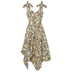 Proenza Schouler Asymmetric Floral-Print Midi Dress