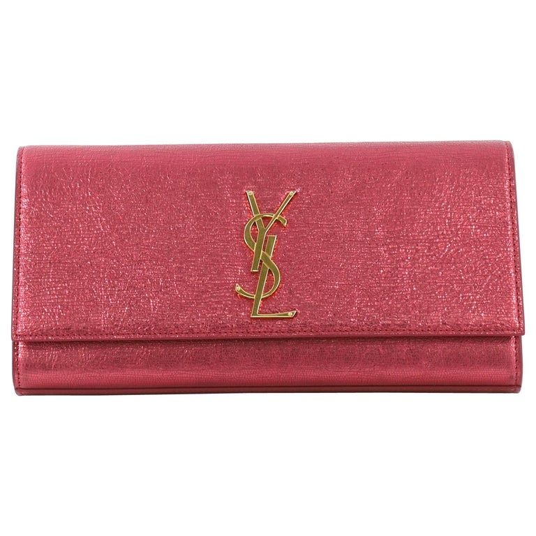 365cb83683 Saint Laurent Classic Monogram Clutch Leather Long For Sale at 1stdibs