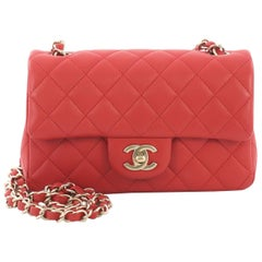 Chanel Classic Single Flap Bag Quilted Lambskin Mini
