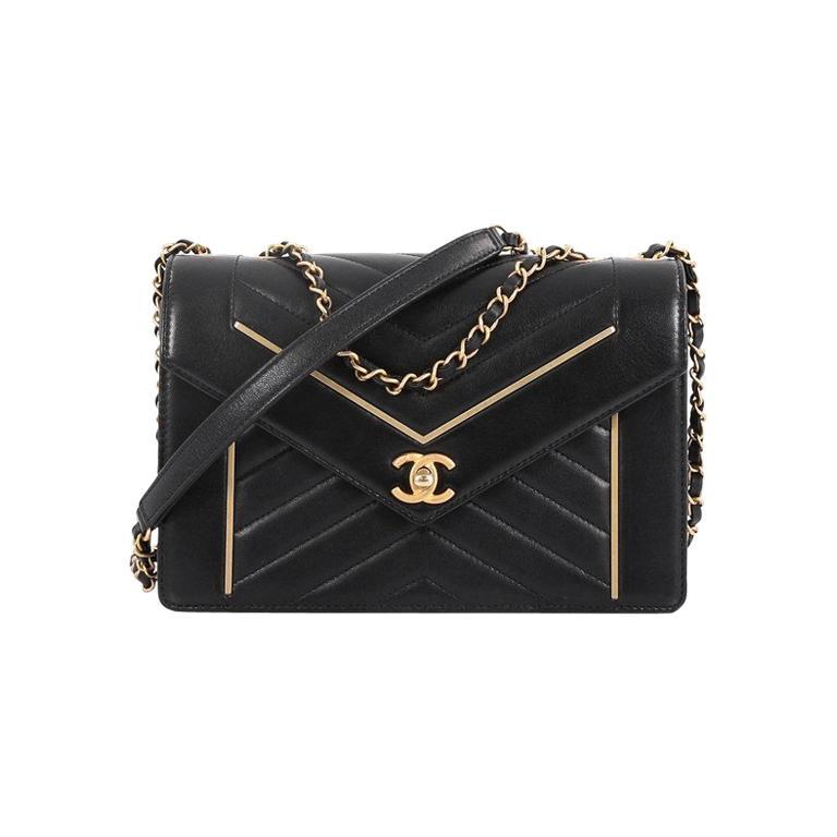 bb97a163ad497b Chanel Reversed Flap Bag Chevron Lambskin Medium For Sale at 1stdibs