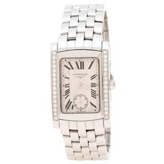 Longines White Stainless Diamonds Dolce L5.502.0.71.6 Women's Wristwatch 22 mm