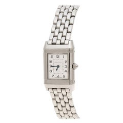 Jaeger LeCoultre White Diamonds Reverso Classic Duetto Women's Wristwatch 20 mm