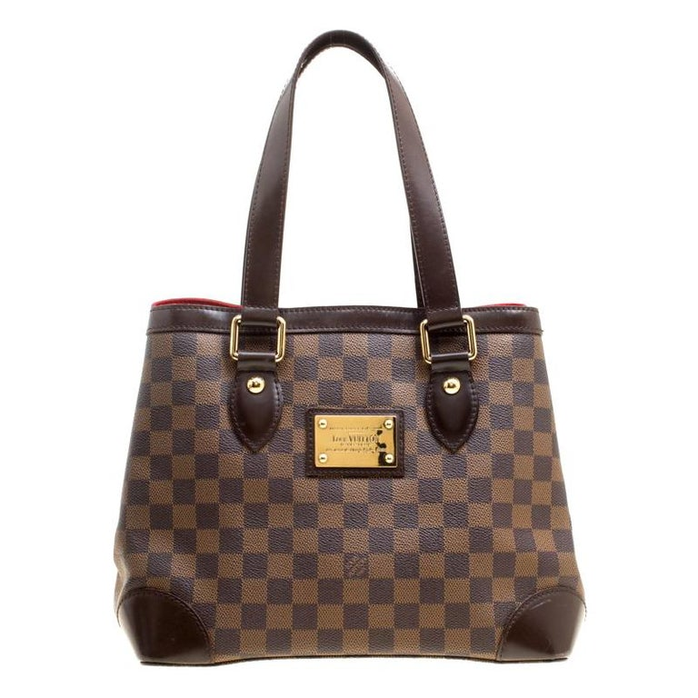 dbacc3e46809 Louis Vuitton Damier Ebene Canvas and Leather Hampstead PM Bag For Sale