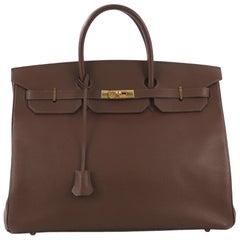 Hermes Birkin Handbag Noisette Ardennes with Gold Hardware 40