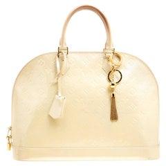 Louis Vuitton Perle Monogram Vernis Alma GM Bag