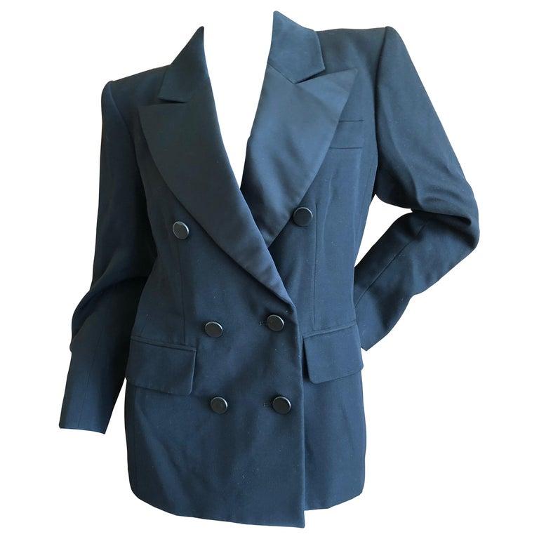 08dd02dcf0b Yves Saint Laurent Vintage 1980's Strong Shoulder