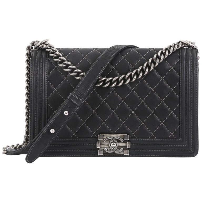 ef80208cd5a01c Chanel Boy Flap Bag Quilted Iridescent Calfskin New Medium For Sale ...