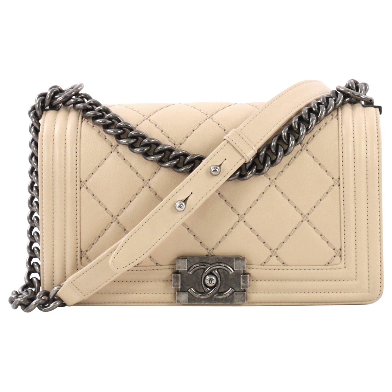 a5f59d7c2f962b Chanel Stitch Boy Flap Bag Quilted Calfskin Old Medium at 1stdibs