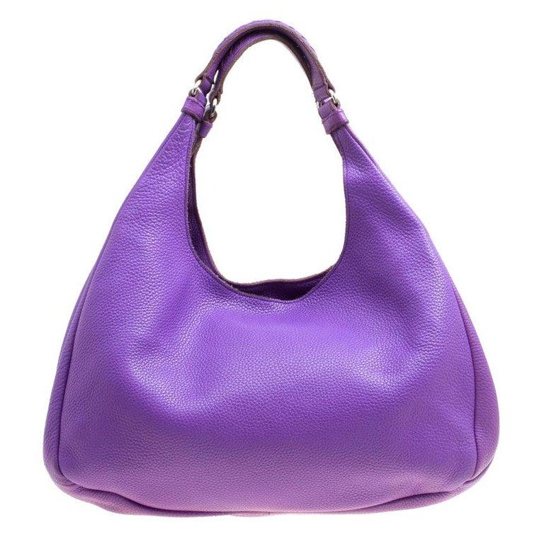 a59554d65f4b Bottega Veneta Purple Leather Hobo For Sale at 1stdibs