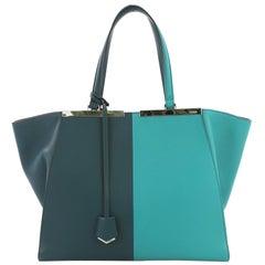Fendi Bicolor 3Jours Handbag Leather Large