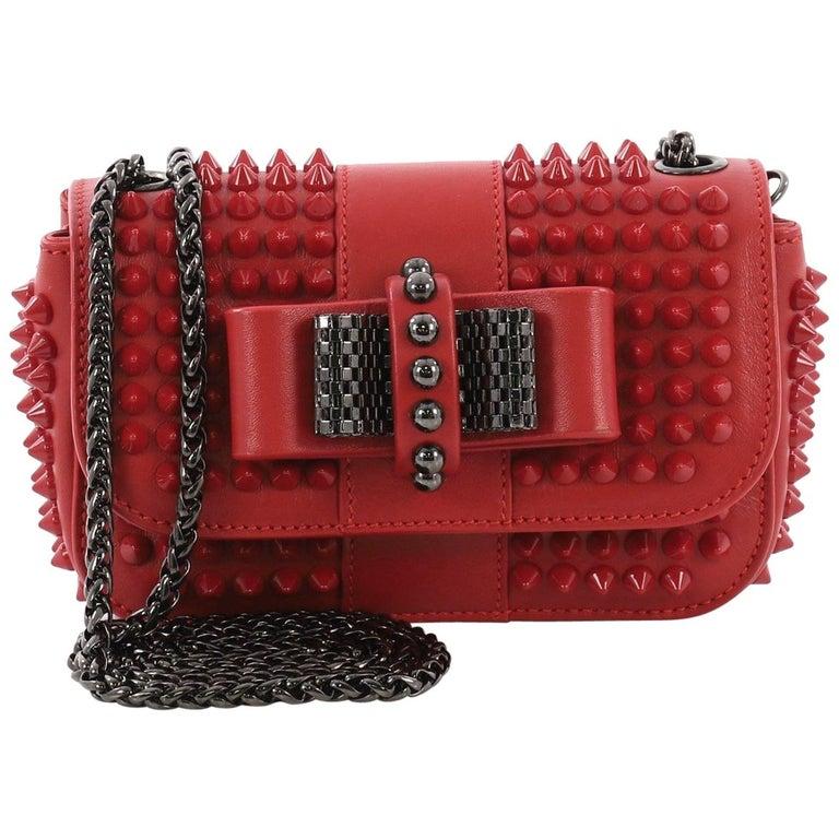 700a967dbfc Christian Louboutin Sweet Charity Crossbody Bag Spiked Leather Mini
