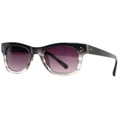 Linda Farrow Luxe Black/Grey Ombre Sunglasses W/ Case