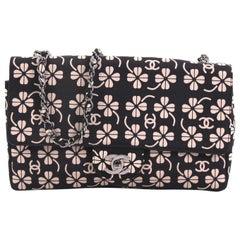 Chanel Vintage CC Chain Flap Bag Printed Canvas Medium