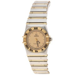 Omega 18K Yellow Gold and Stainless Steel Constellation 795.1080.1 Wristwatch 22