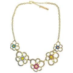 Oscar De La Renta Daisy necklace set with rhinestones