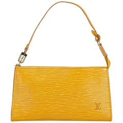 Louis Vuitton Yellow Epi Leather Leather Epi Pochette Accessoires France