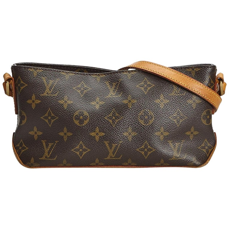 Louis Vuitton Brown Monogram Canvas Canvas Monogram Trotteur France For Sale
