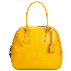 Yellow Top Handle Bags