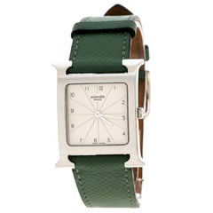 Hermes Pearl White Stainless Steel Heure H HH1.510 Women's Wristwatch 26 mm