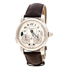 Montblanc Silver White Stainless Nicolas Rieussec 7138 Men's Wristwatch 42 mm