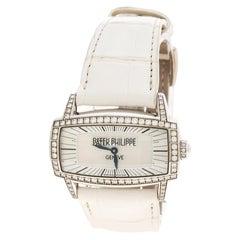 Patek Philippe Mother of Pearl 18K White Gondolo Gemma Women's Wristwatch 37 mm